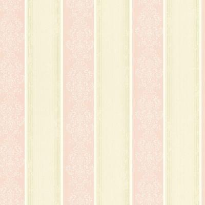 Eastport Pink Arabelle Stripe Pink Wallpaper Sample