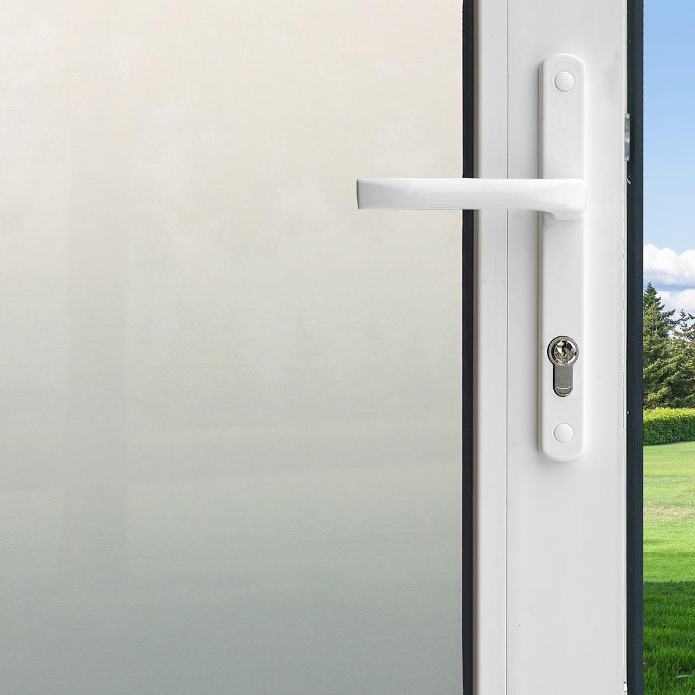 Gila 36 in. x 78 in. Privacy Control Frosted Glass Decorative Window Film