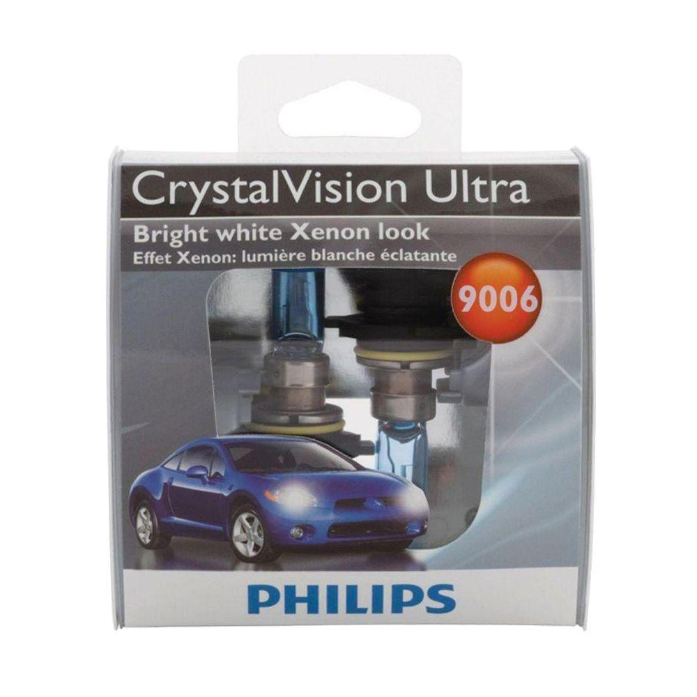 Philips Crystalvision Ultra 9006 Headlight Bulb 2 Pack