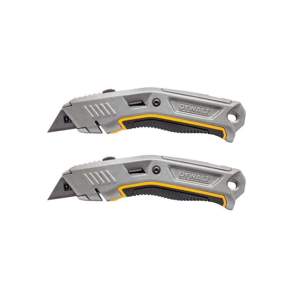 Dewalt Metal Utility Knife 2 Pack Dwht80697d The Home