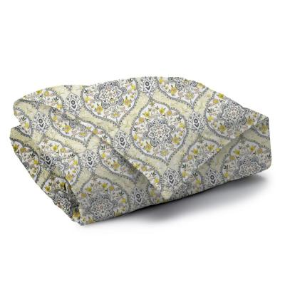 Gracia Reversible Print 100% Organic Cotton Wrinkle Resistant Duvet Set and Insert