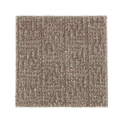 Carpet Sample - Scarlet - Color Leather Tone Pattern 8 in. x 8 in.