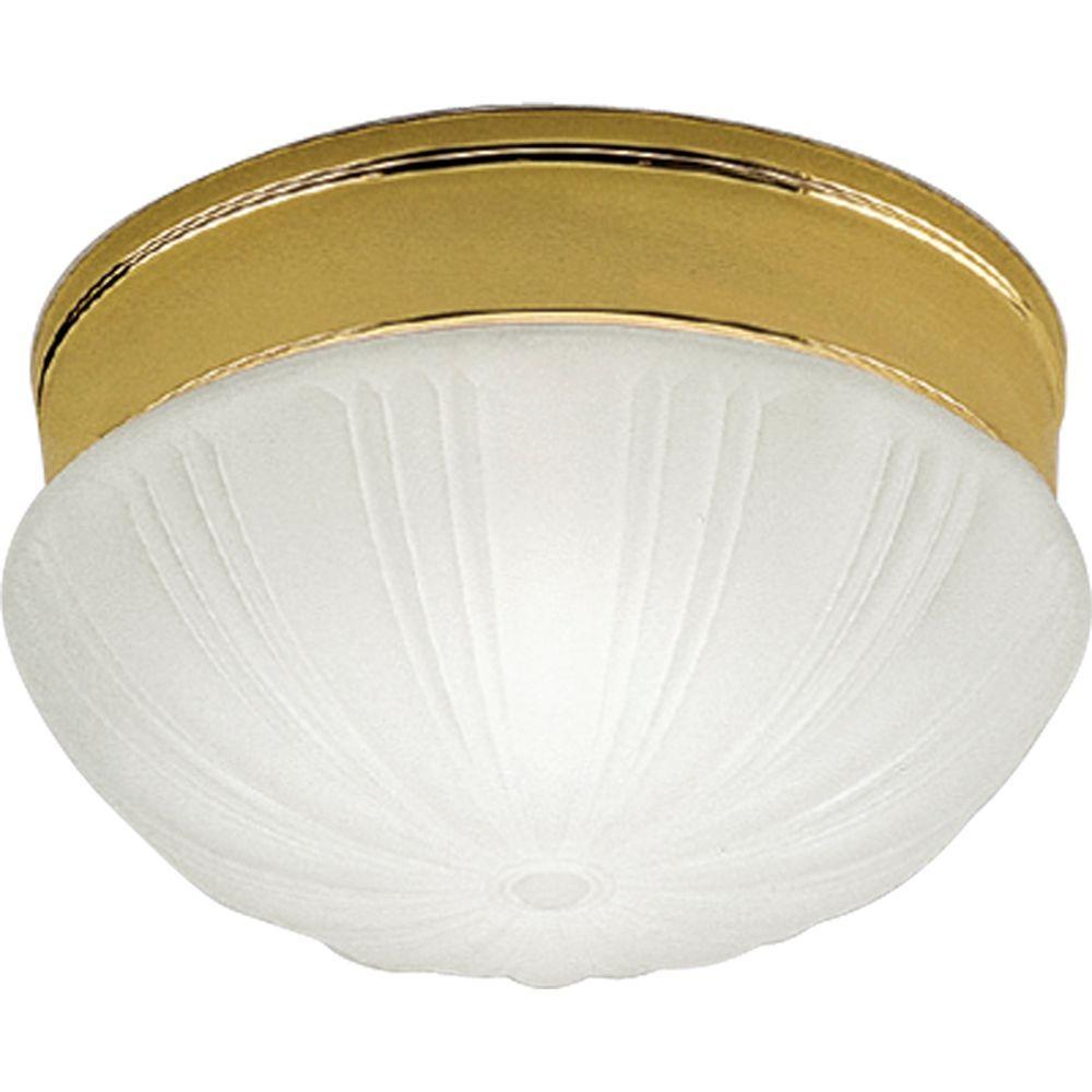 Progress Lighting Prescott Collection Polished Brass 2-light Flushmount-DISCONTINUED