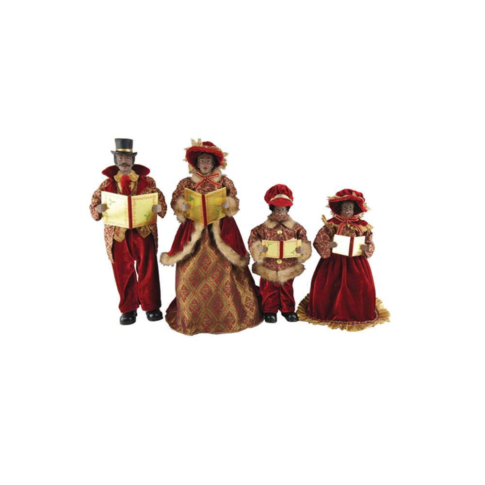 Victorian Christmas Carolers Figurines: 15 In. To 18 In. African American Victorian Carolers With