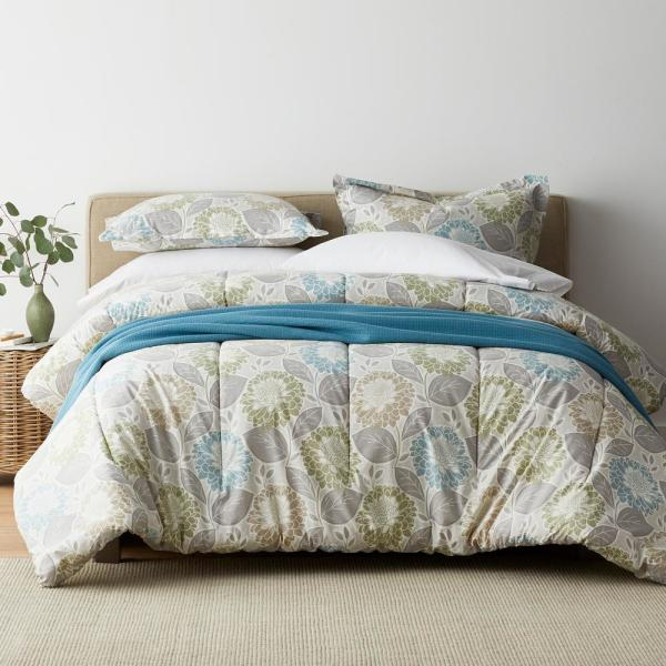 The Company Store Garden Club Floral 3-Piece 200-Thread Count Cotton Percale