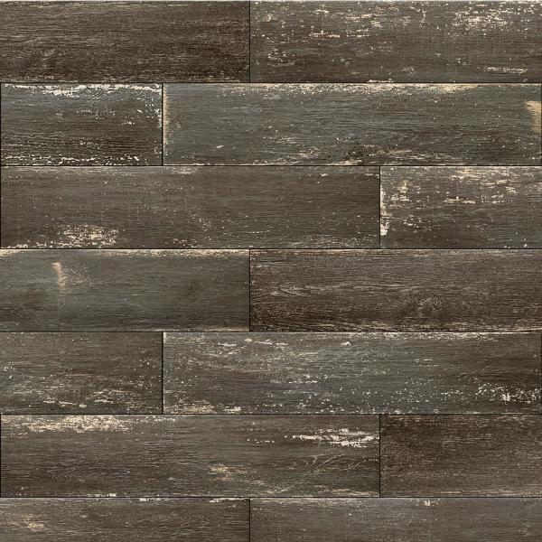 Ember Ebony Wood 8 in. x 36 in. Porcelain Floor and Wall Tile (419.58 sq. ft./Pallet)