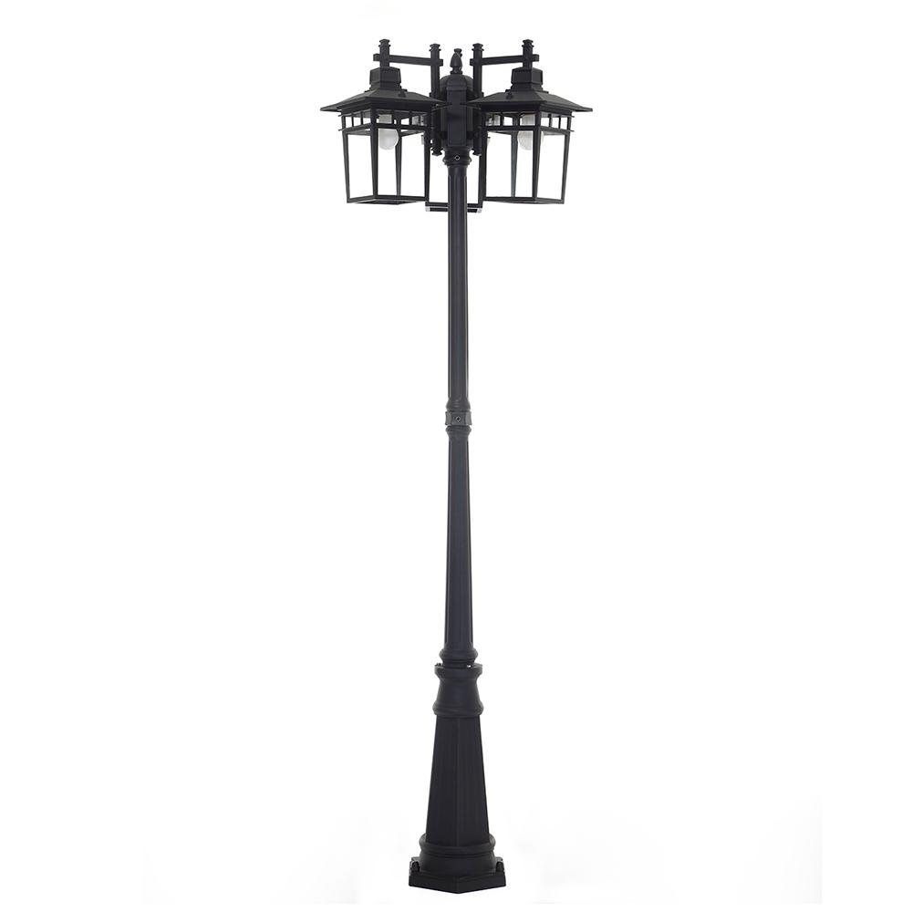Marco 3-Light Outdoor Black Integrated LED Post Light
