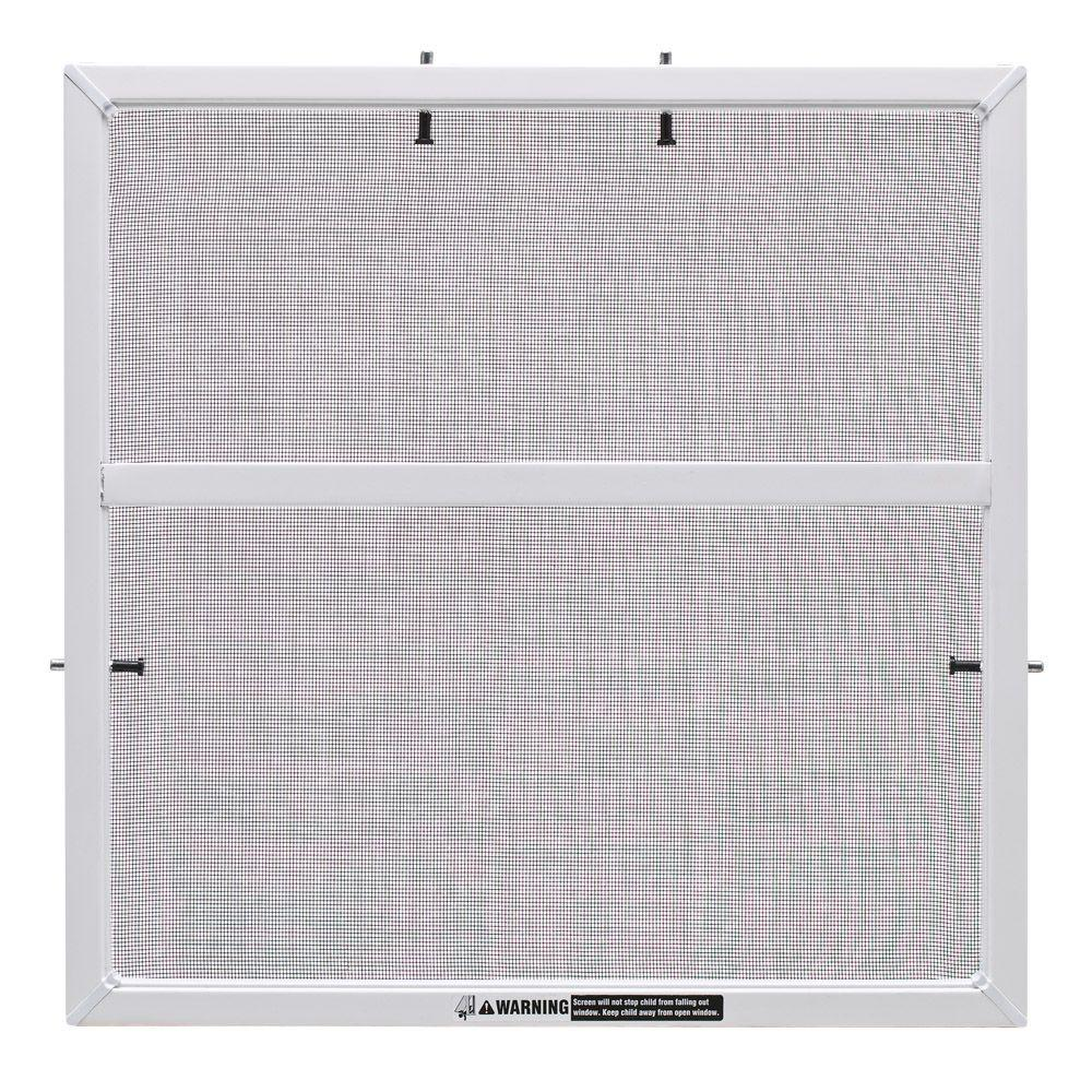 32 in. x 62 in. White Aluminum Framed Window Screen with