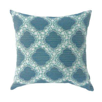 Roxy 22 in. Contemporary Standard Throw Pillow in Blue