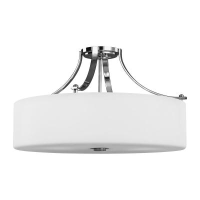 Sunset Drive 22 in. 4-Light Chrome Semi-Flush Mount