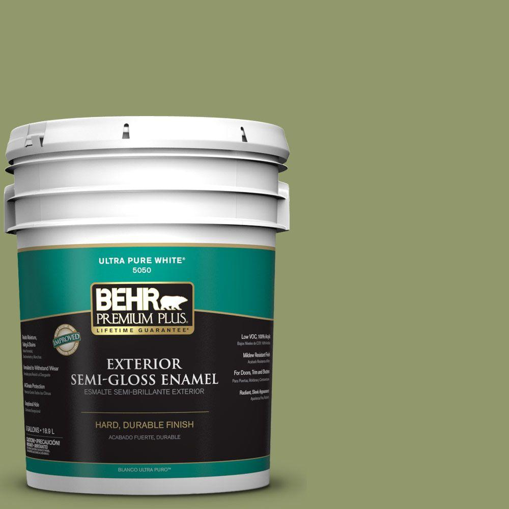 5-gal. #HDC-SP14-2 Exotic Palm Semi-Gloss Enamel Exterior Paint