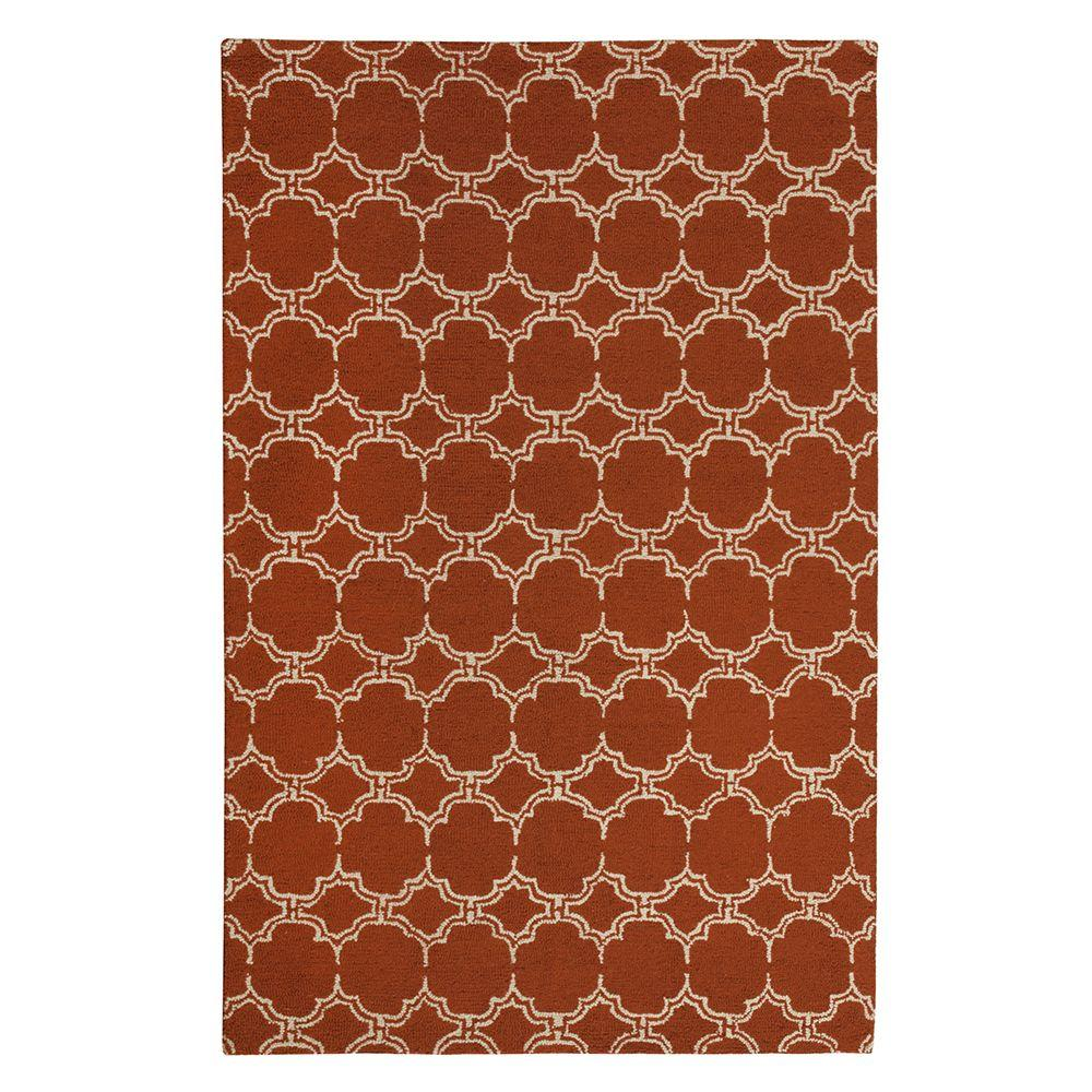 Home Decorators Collection Melanie Rust 3 ft. x 5 ft. Area Rug