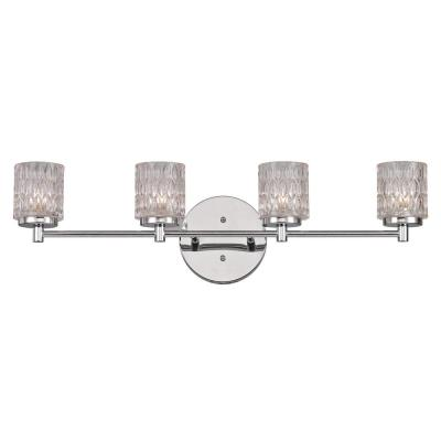 Bayou 4-Light Polished Chrome Bath Light