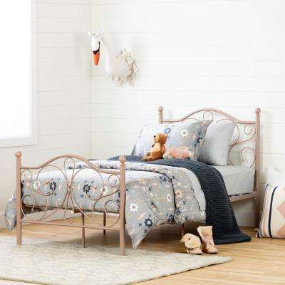 Country Poetry Pink Blush Twin Bed