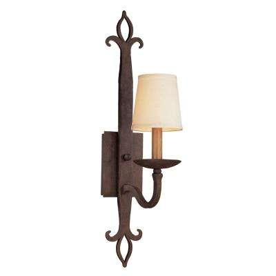 Lyon 1-Light Burnt Sienna Wall Sconce