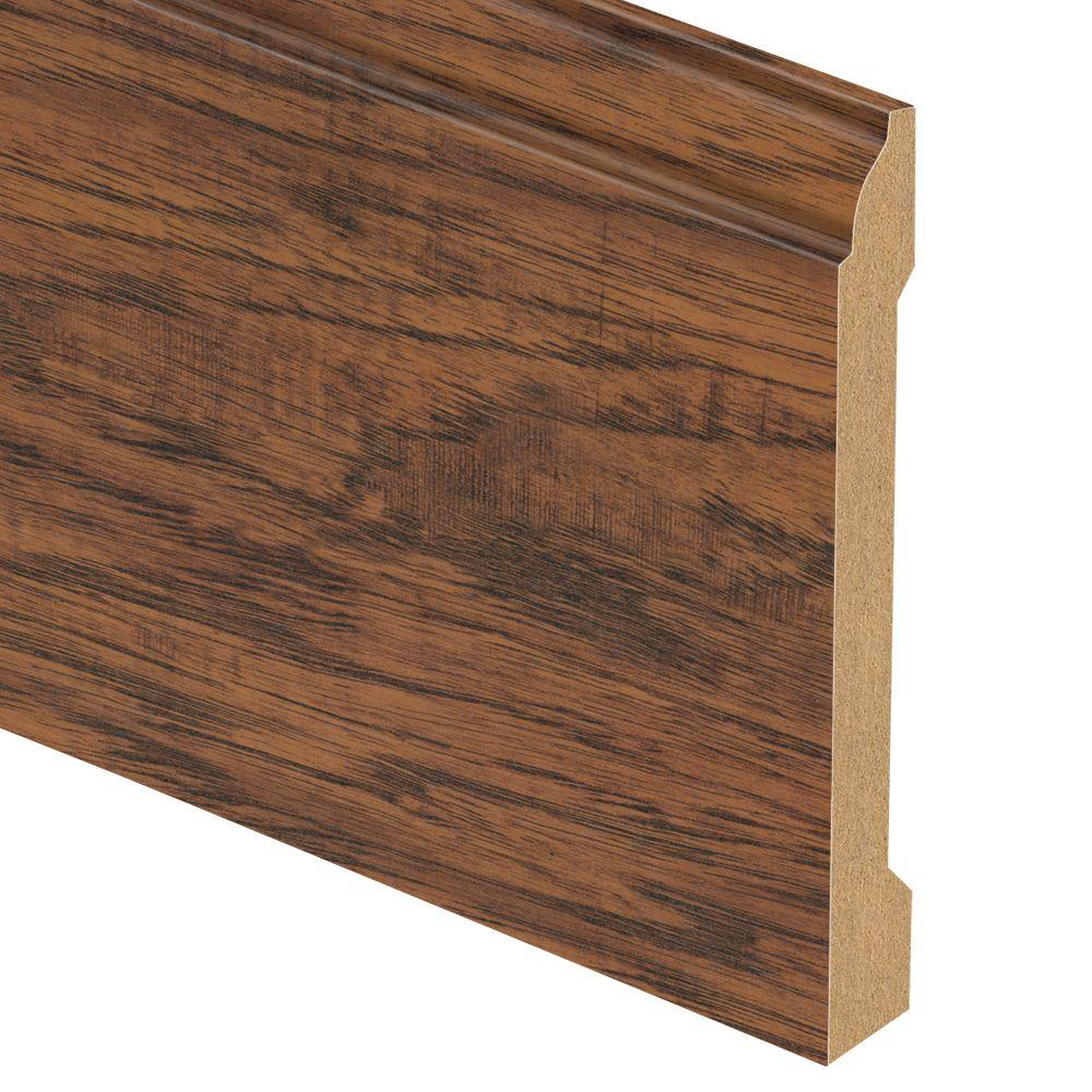 Zamma Highland Hickory 9/16 in. Thick x 5-1/4 in. Wide x 94 in. Length Laminate Base Molding