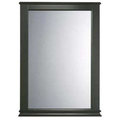 Portsmouth 34 in. x 25 in. Framed Wall Mirror in Dark Chocolate