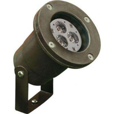 Skive 3-Light Bronze Outdoor LED Spot Light