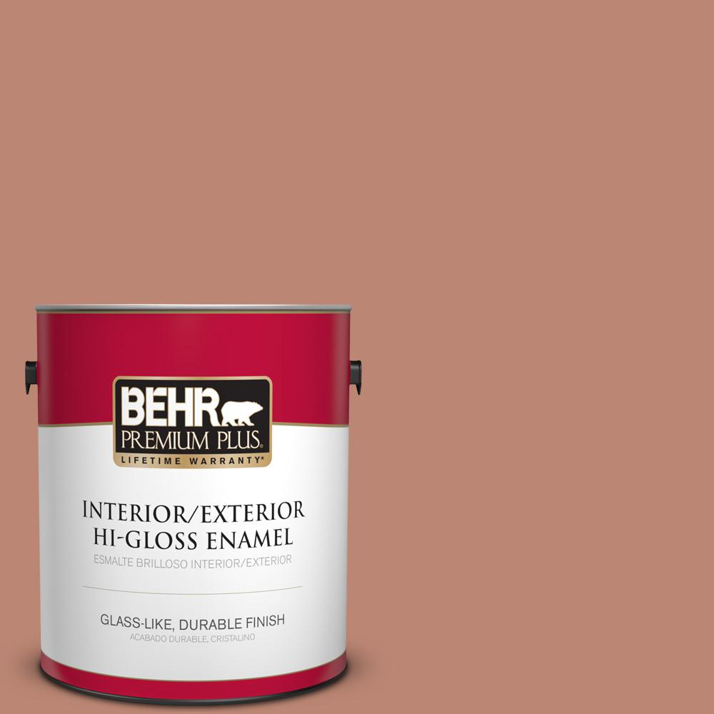 1 gal. #PPU2-09 Ginger Rose Hi-Gloss Enamel Interior/Exterior Paint