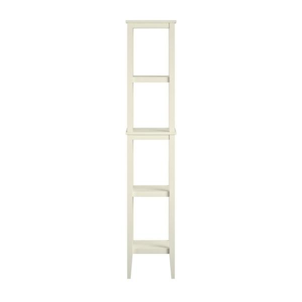 Queensbury 12 in. W x 10 in. D x 62 in. H Storage Tower in Soft White