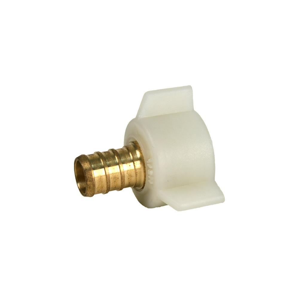 1/2 in. PEX x 1/2 in. FPT PEX Fitting Swivel Adapter with Plastic ...