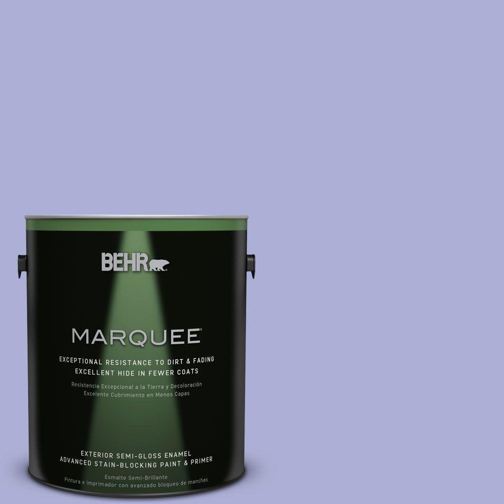 1 gal. #MQ4-30 Lavender Wash Semi-Gloss Enamel Exterior Paint