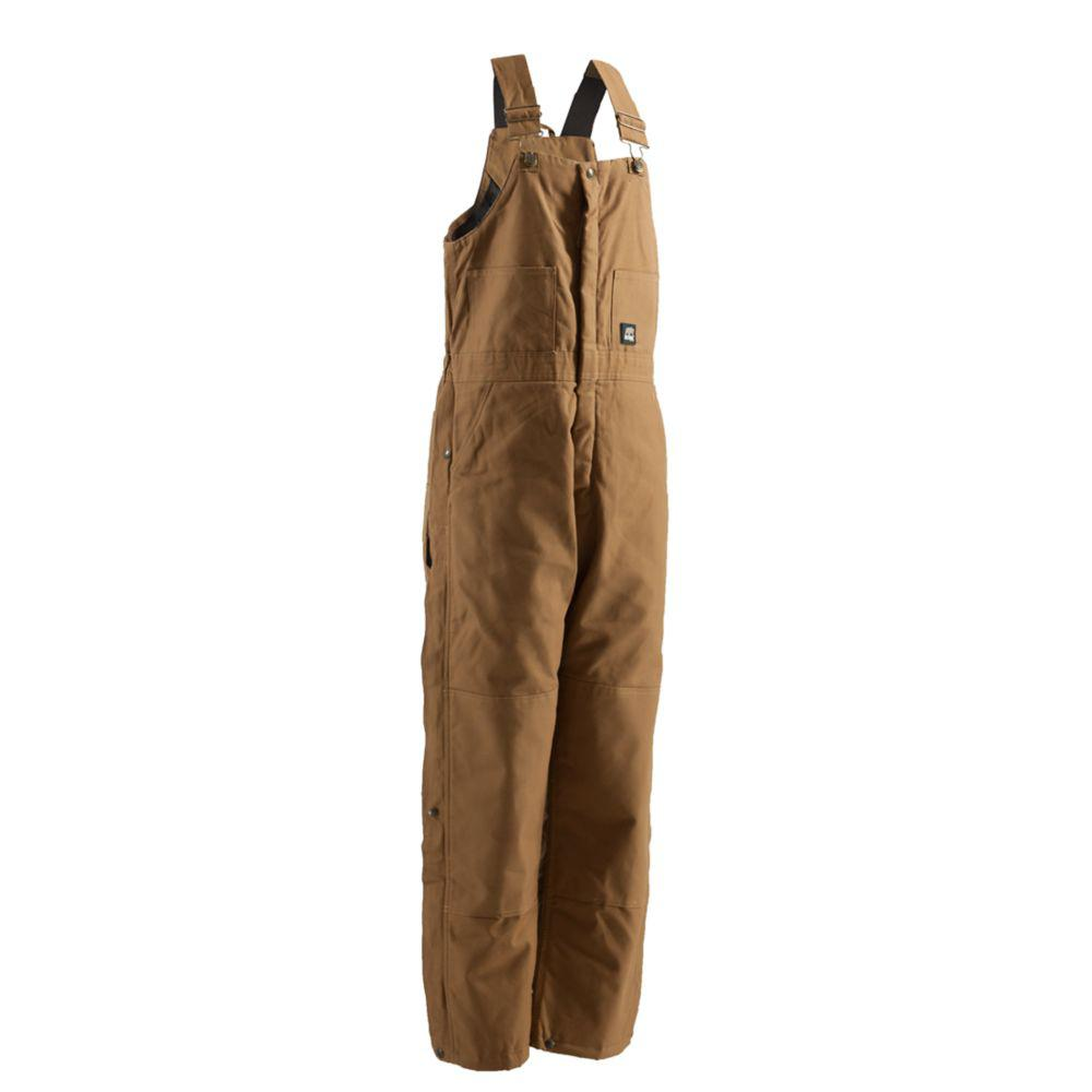 Men's Large Brown Duck Deluxe Insulated Bib Overall