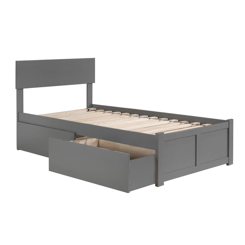 Atlantic Furniture Orlando Twin Platform Bed With Flat