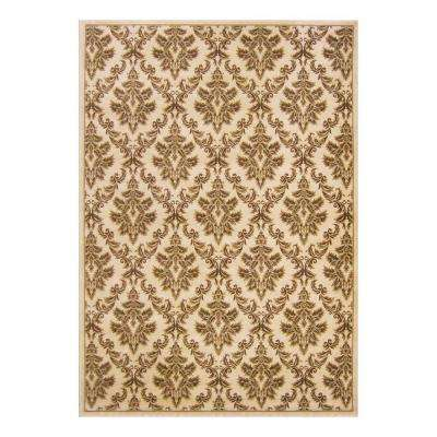 Kurdamir Damask Ivory 7 ft. 10 in. x 10 ft. 10 in. Area Rug