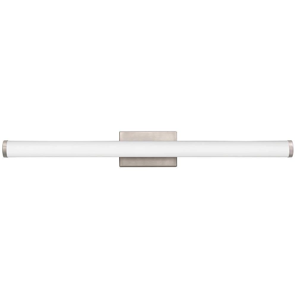 36 Vanity Light Brushed Nickel : Lithonia Lighting Contemporary Cylinder 3-Light Brushed Nickel 3K LED Vanity Light-FMVCCL 36IN ...