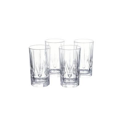 Bellfast 17.5 fl. oz. Lead-Free Crystal Highball Glasses (Set of 4)