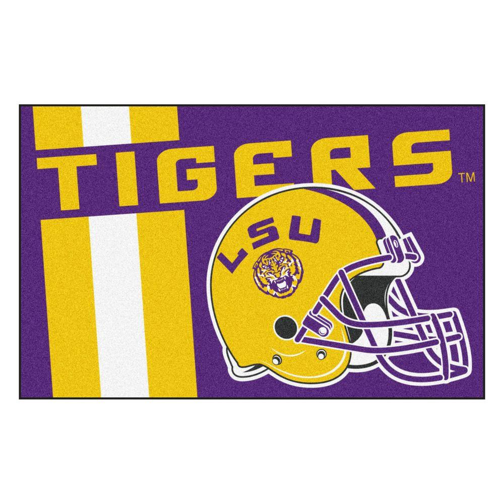 FANMATS NCAA Louisiana State University Purple 2 Ft. X 3 Ft. Area Rug 18754    The Home Depot