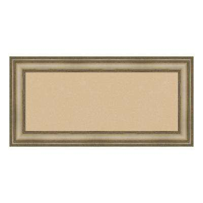 Mezzanine Antique Silver Narrow Framed Beige Cork Memo Board