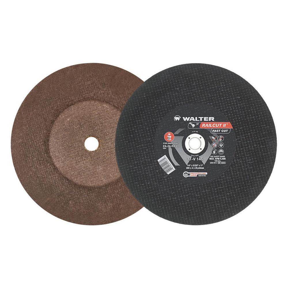 Railcut II Fast Cut 14 in. x1 in. Arbor x 5/32 in. GR A24RAIL Rail Cutting Disc (10-Pack)