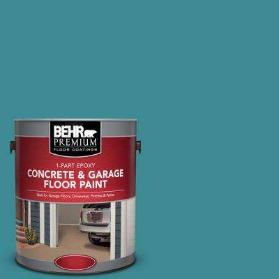 1 gal. #PFC-49 Heritage Teal 1-Part Epoxy Satin Interior/Exterior Concrete and Garage Floor Paint