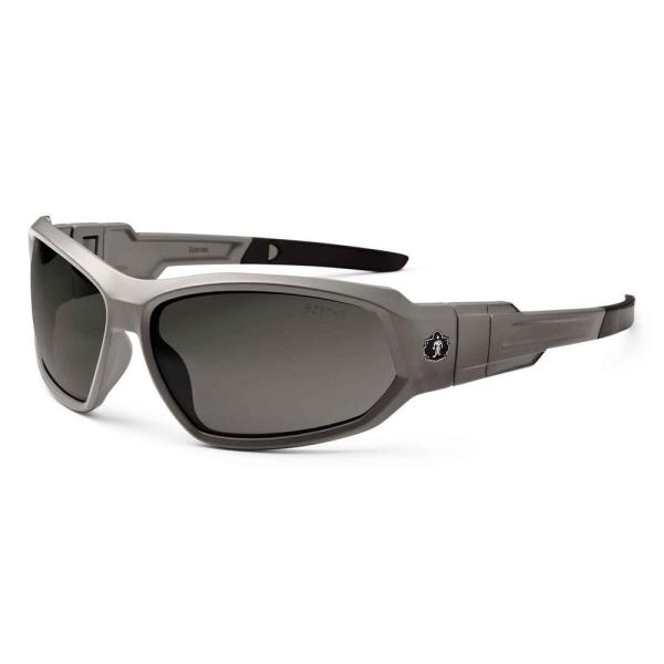 Skullerz Loki Matte Gray Polarized Safety Glasses / Goggles, Tinted Lens - ANSI Certified