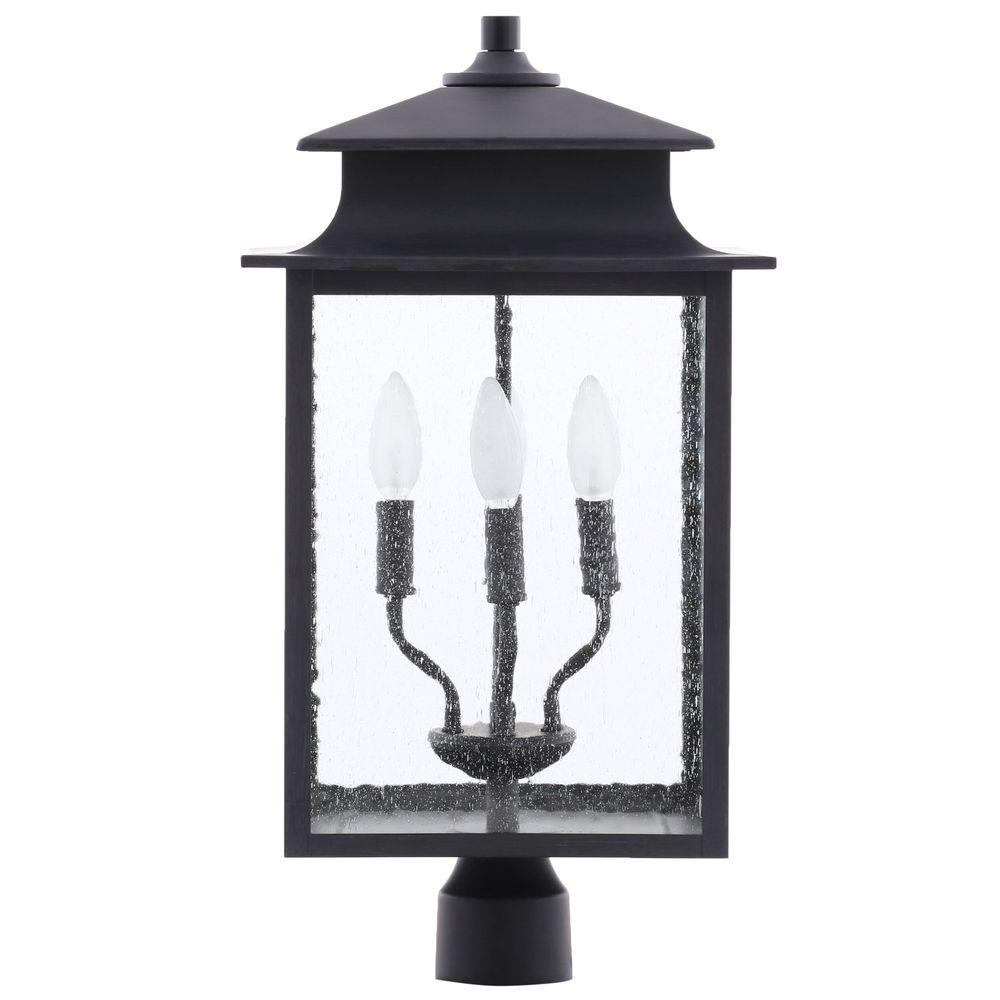 World Imports Sutton Collection 4-Light Rust Outdoor Post Lantern