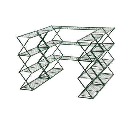48 in. H x 18 in. W x 180 in. D 20-Shelves Metal SpringHouse Free Standing Shelves Set
