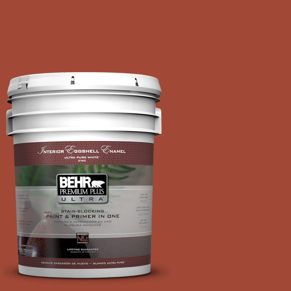 BEHR Premium Plus Ultra 5-gal. #200D-7 Rodeo Red Eggshell Enamel Interior Paint