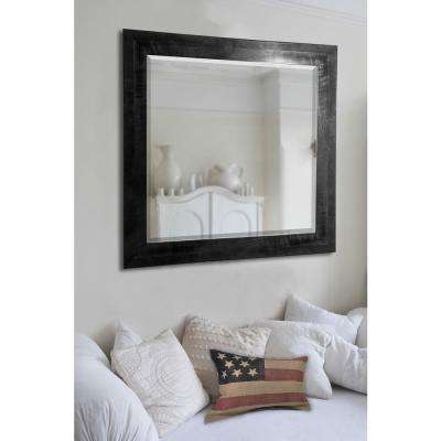 24.5 in. x 30.5 in. Black Smoke Rounded Beveled Floor Wall Mirror