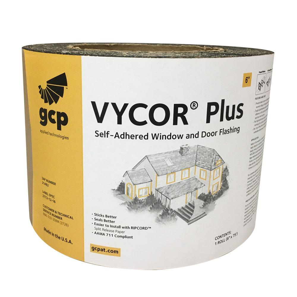 GCP Applied Technologies Vycor Plus 6 in. x 75 ft. Roll Fully-Adhered Flashing