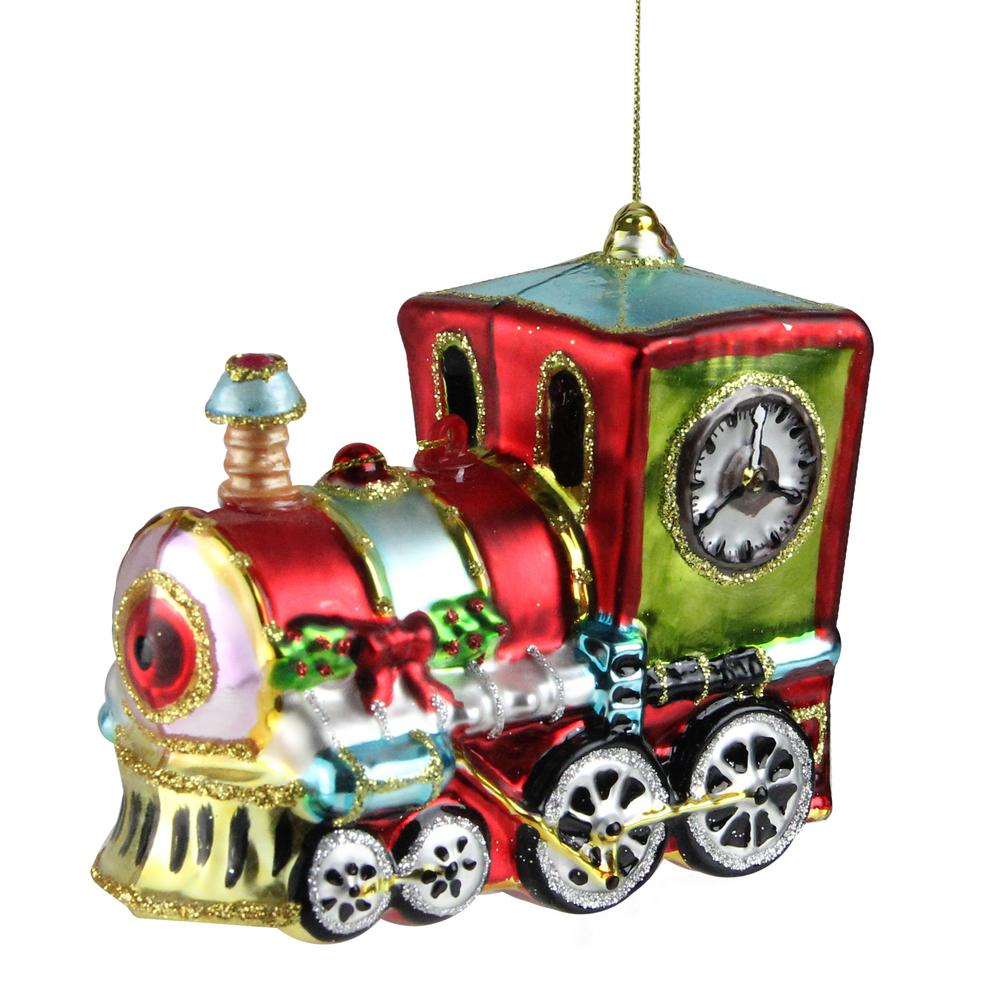 4 in. Festive Decorated Holiday Train Christmas Ornament