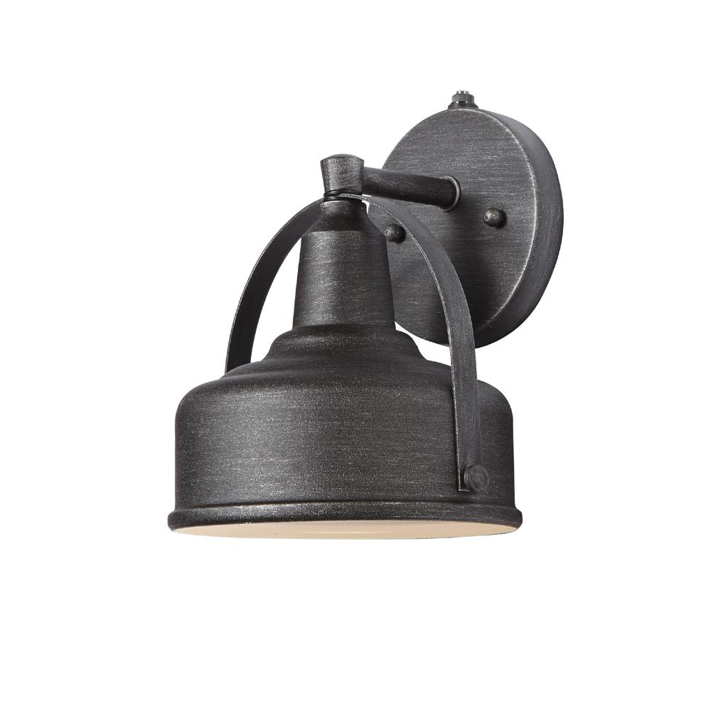 9 In Weathered Pewter Small Outdoor Led Wall Lantern With Open Bottom