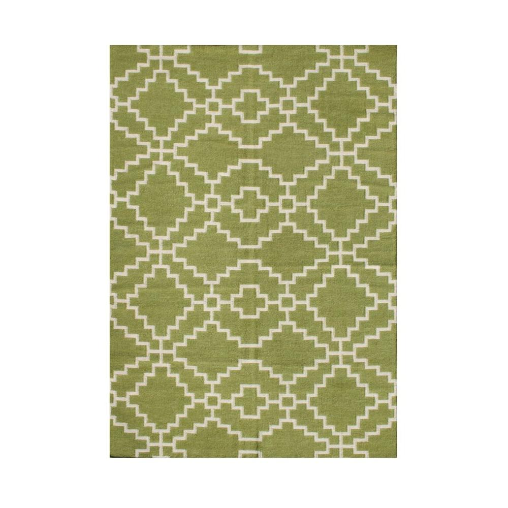 Lime Green Overdyed Rug: Lime Green 8 Ft. X 10 Ft. Handmade Area Rug-90075-8x10