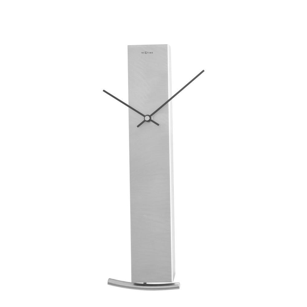 Nextime 14.25 in. x 4.57 in. Rectangular Aluminum Clock