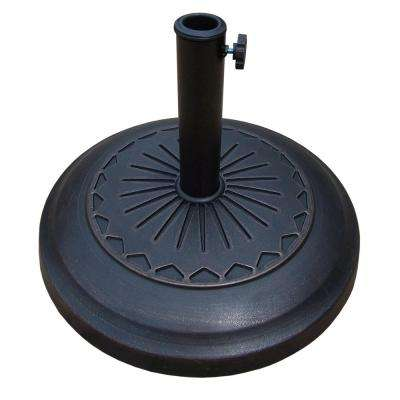 20 in. Cast Polyresin Star Patio Umbrella Base in Antique Bronze