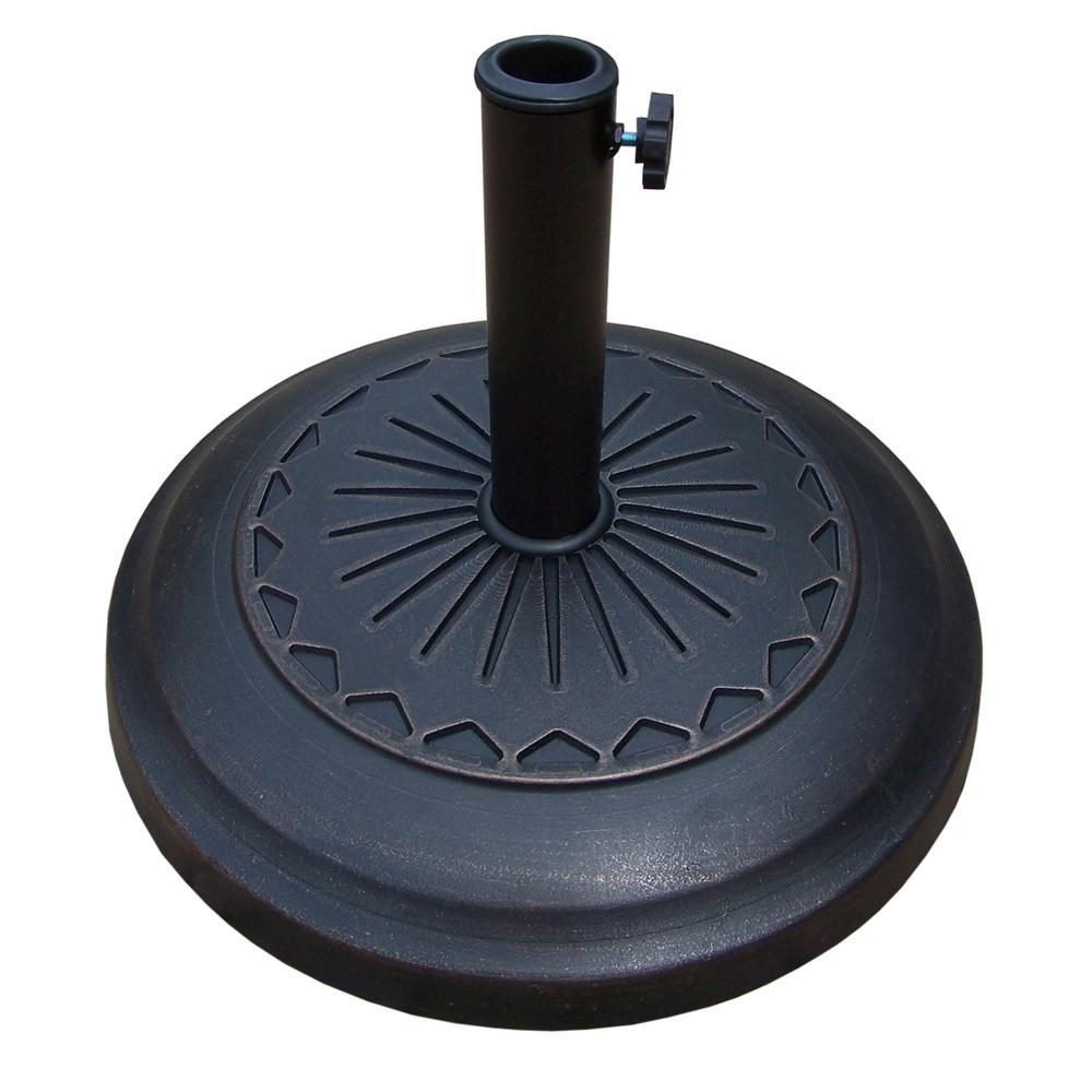 20 in. Cast Polyresin Star Patio Umbrella Base in Antique Bronze