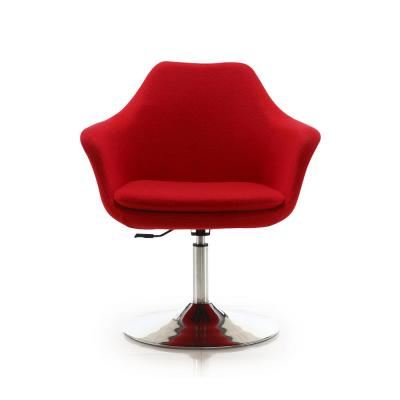 Kinsey Red Adjustable Height Swivel Accent Chair