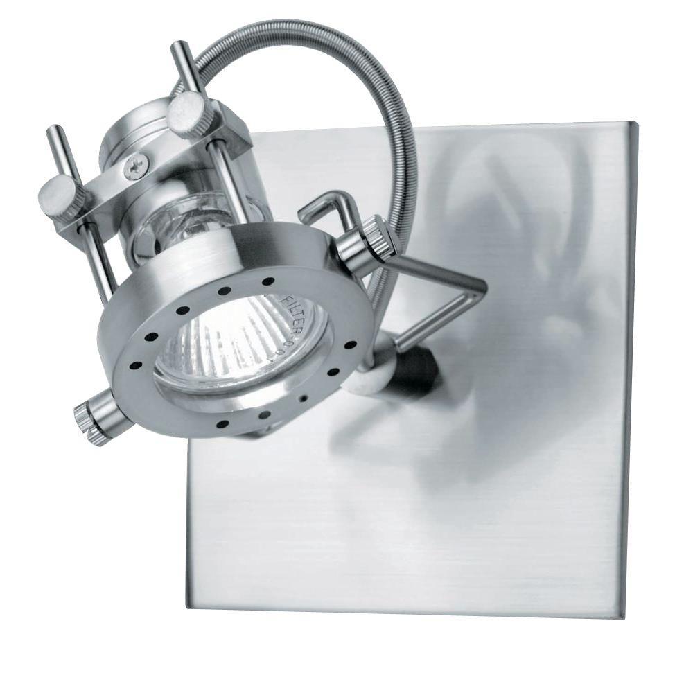 Riva 1-Light Polished Steel Spot Light