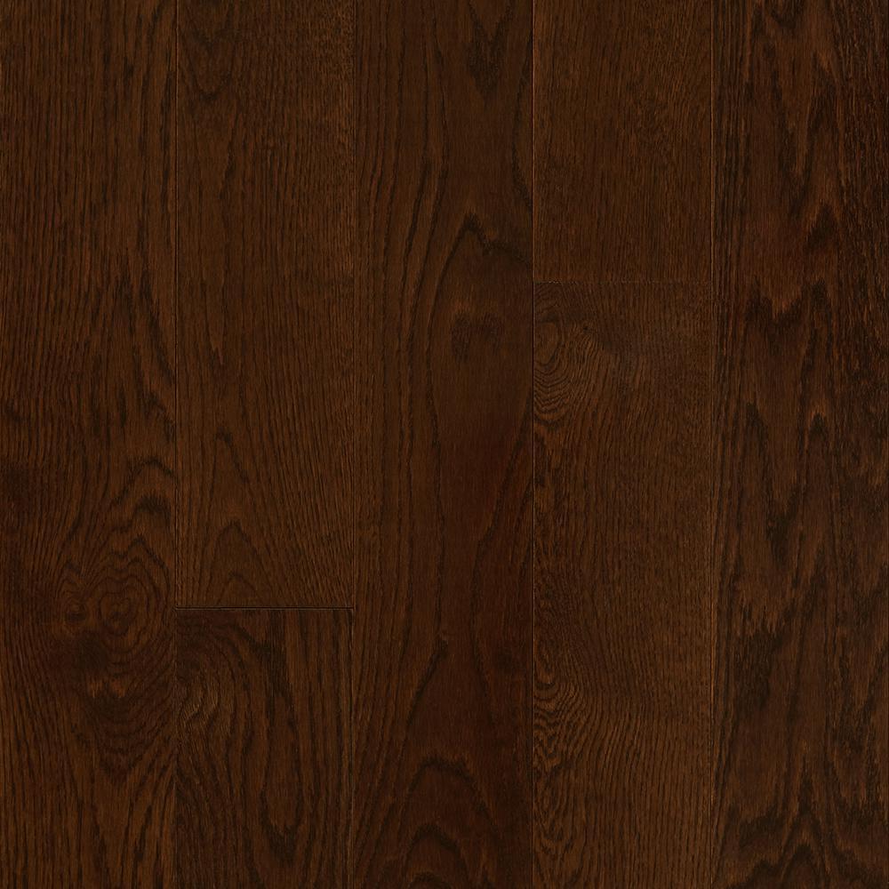 Bruce Take Home Sample Plano Oak Mocha Solid Hardwood Flooring 5 In. X 7 In., Brown